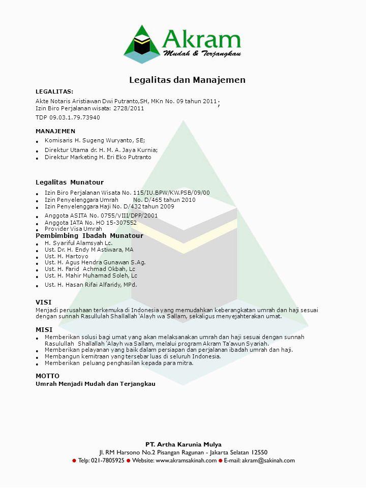 Legalitas dan Manajemen