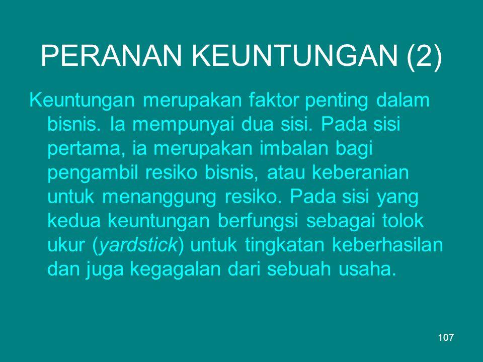 PERANAN KEUNTUNGAN (2)