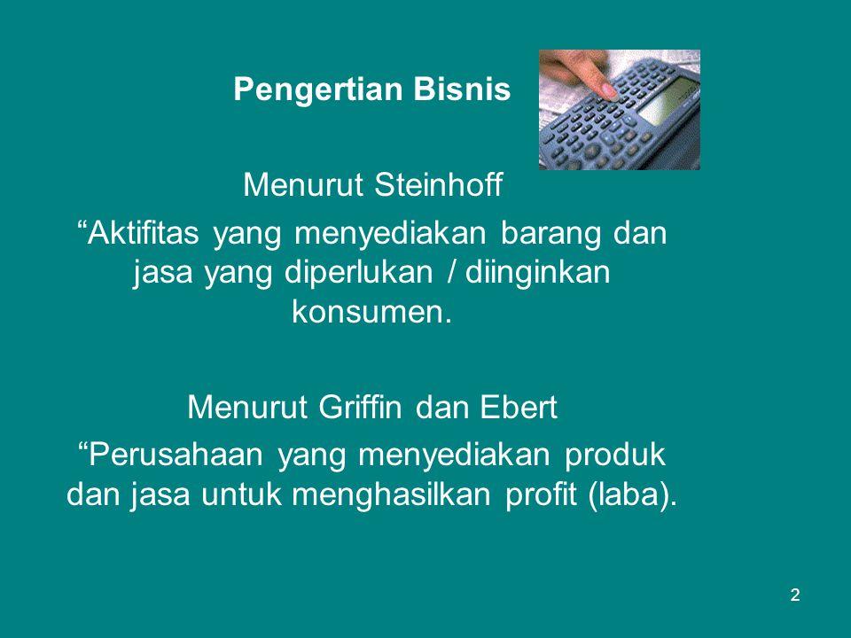 Menurut Griffin dan Ebert