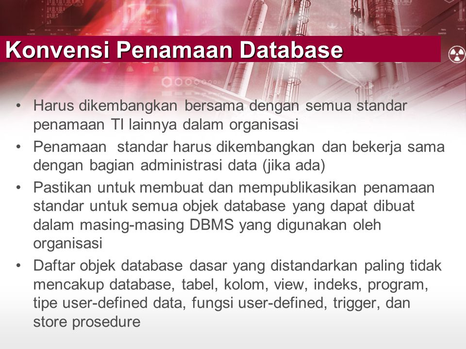 Konvensi Penamaan Database