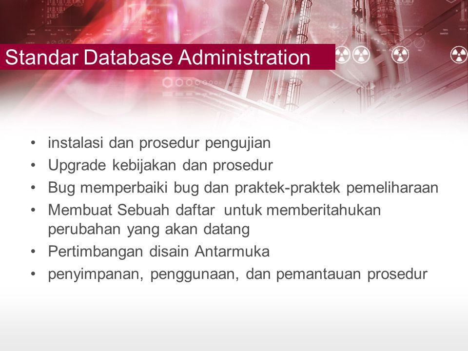 Standar Database Administration