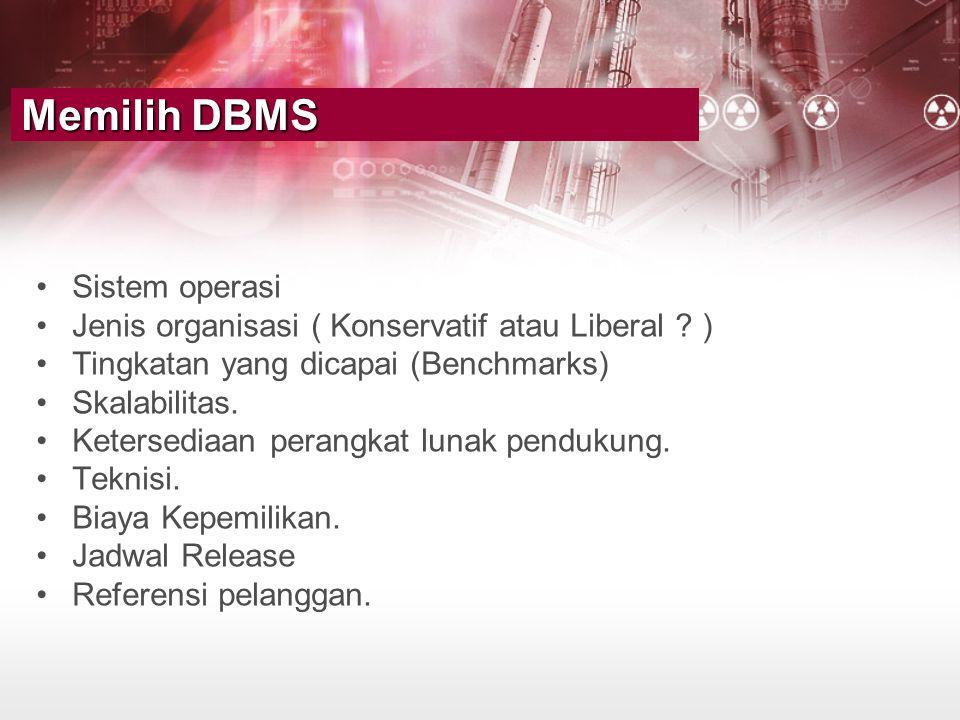 Memilih DBMS Sistem operasi
