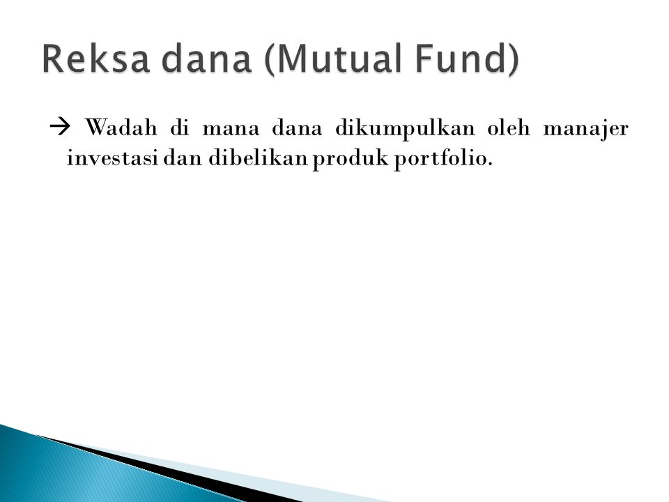 Reksa dana (Mutual Fund)