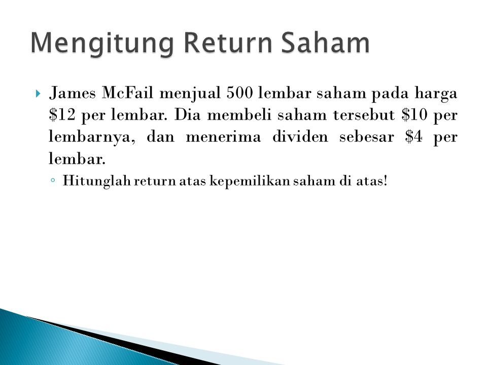 Mengitung Return Saham