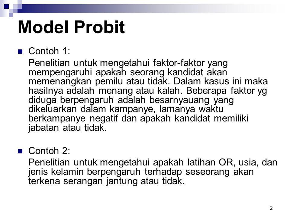 Model Probit Contoh 1: