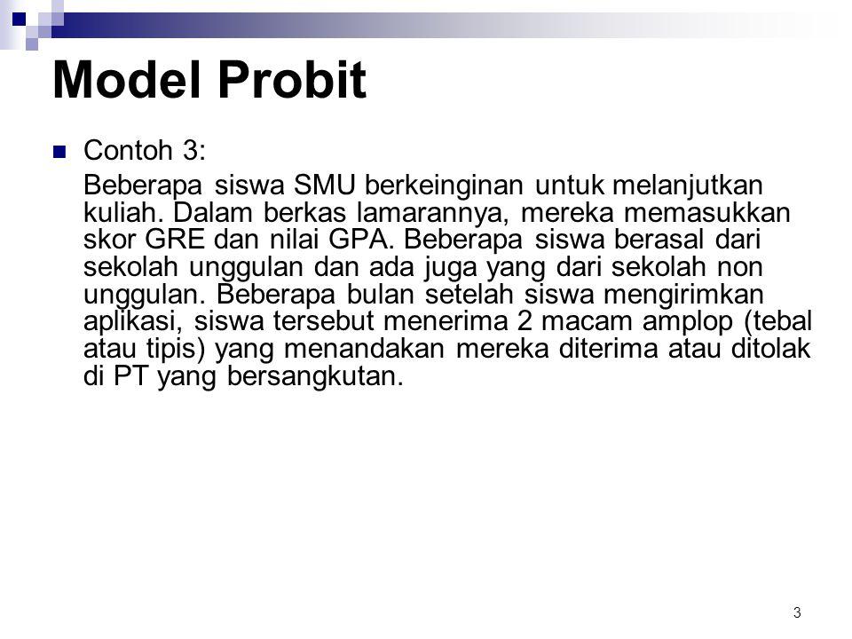 Model Probit Contoh 3: