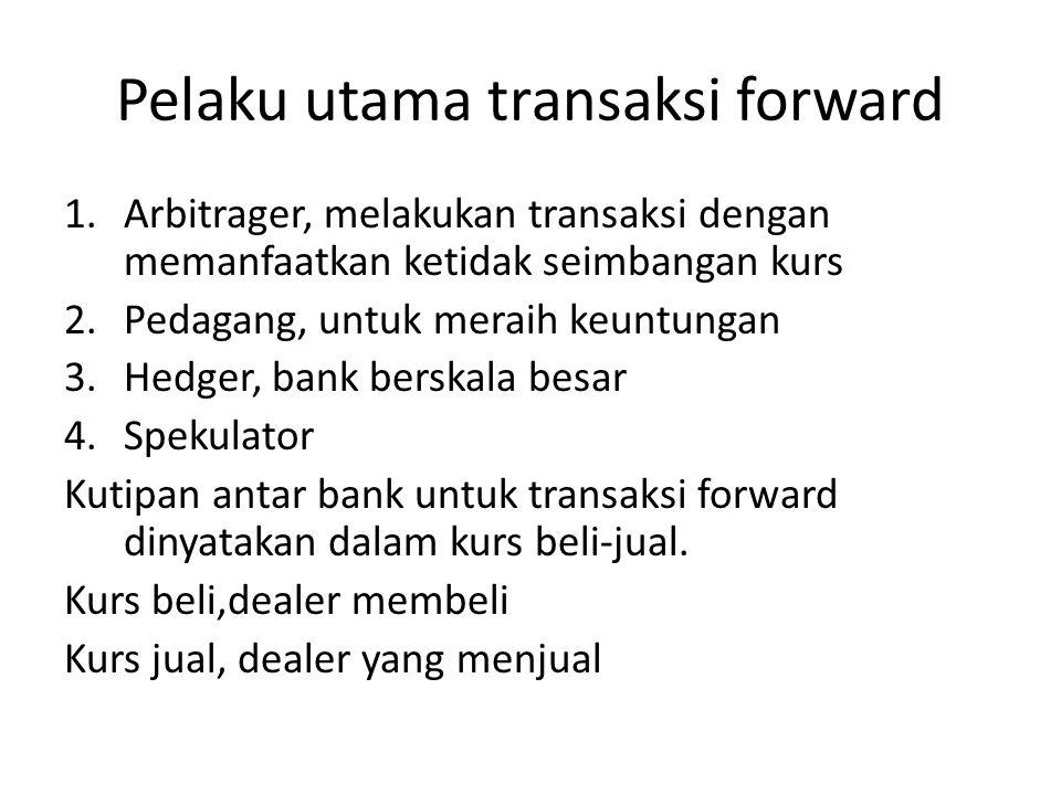 Pelaku utama transaksi forward