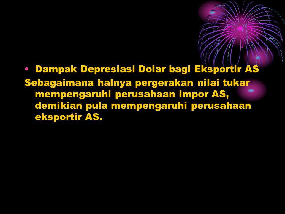 Dampak Depresiasi Dolar bagi Eksportir AS