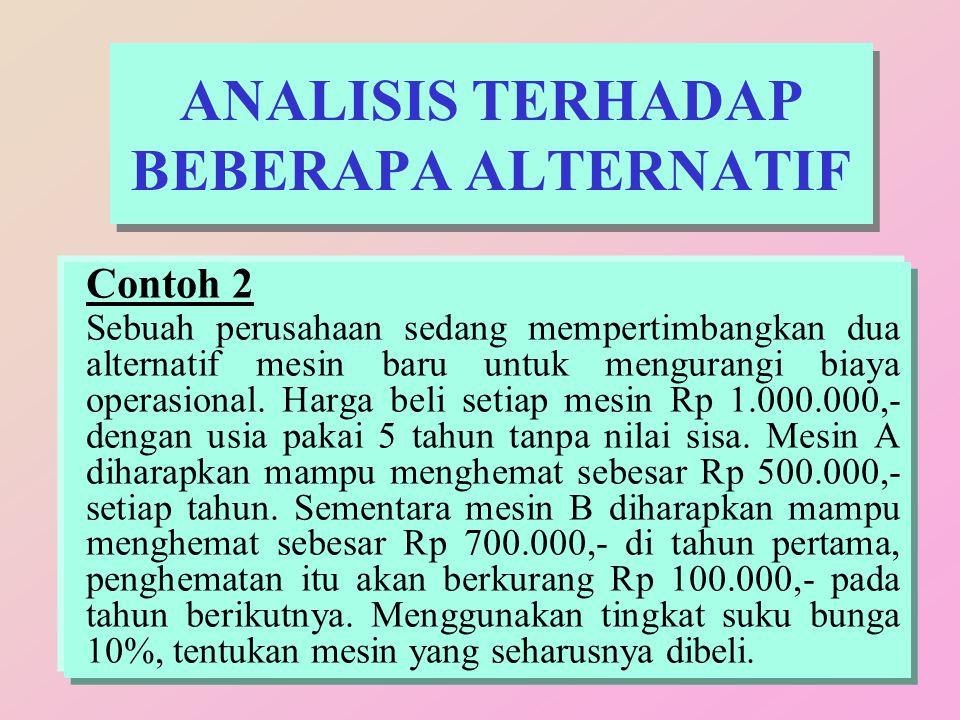ANALISIS TERHADAP BEBERAPA ALTERNATIF