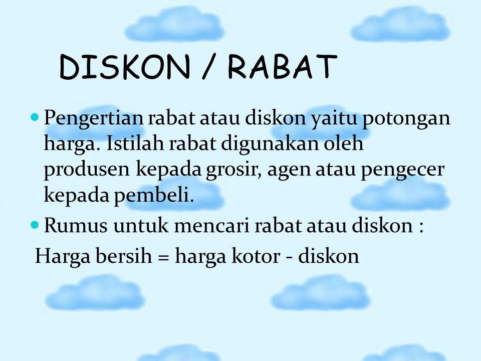 DISKON / RABAT