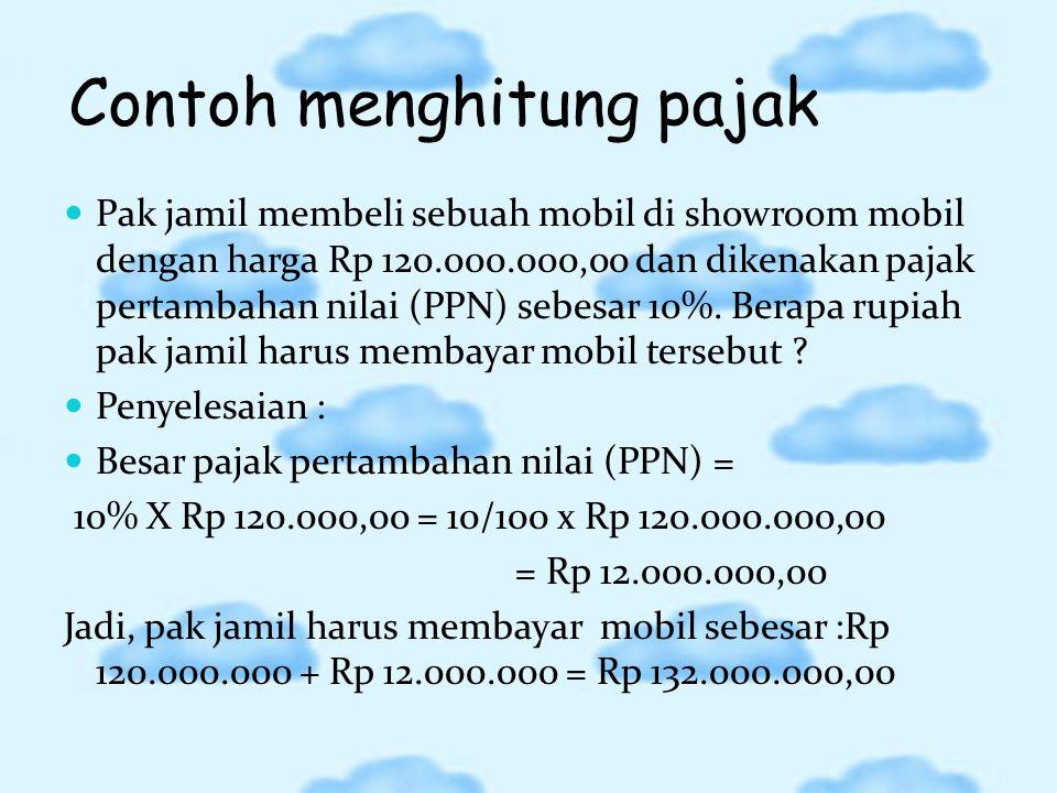 Contoh menghitung pajak