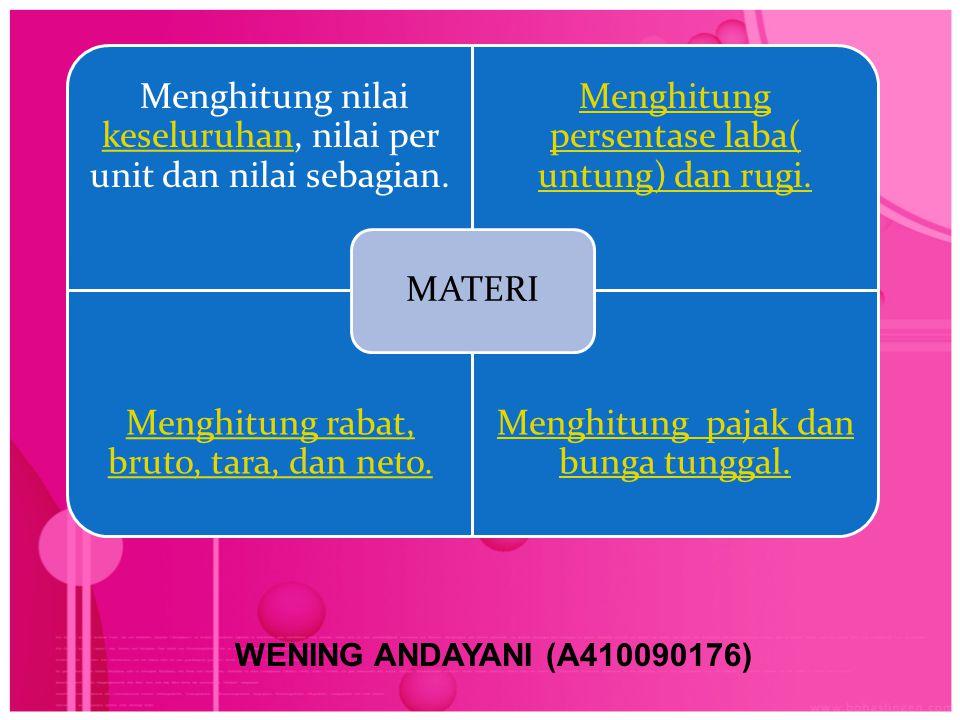 WENING ANDAYANI (A410090176) MATERI