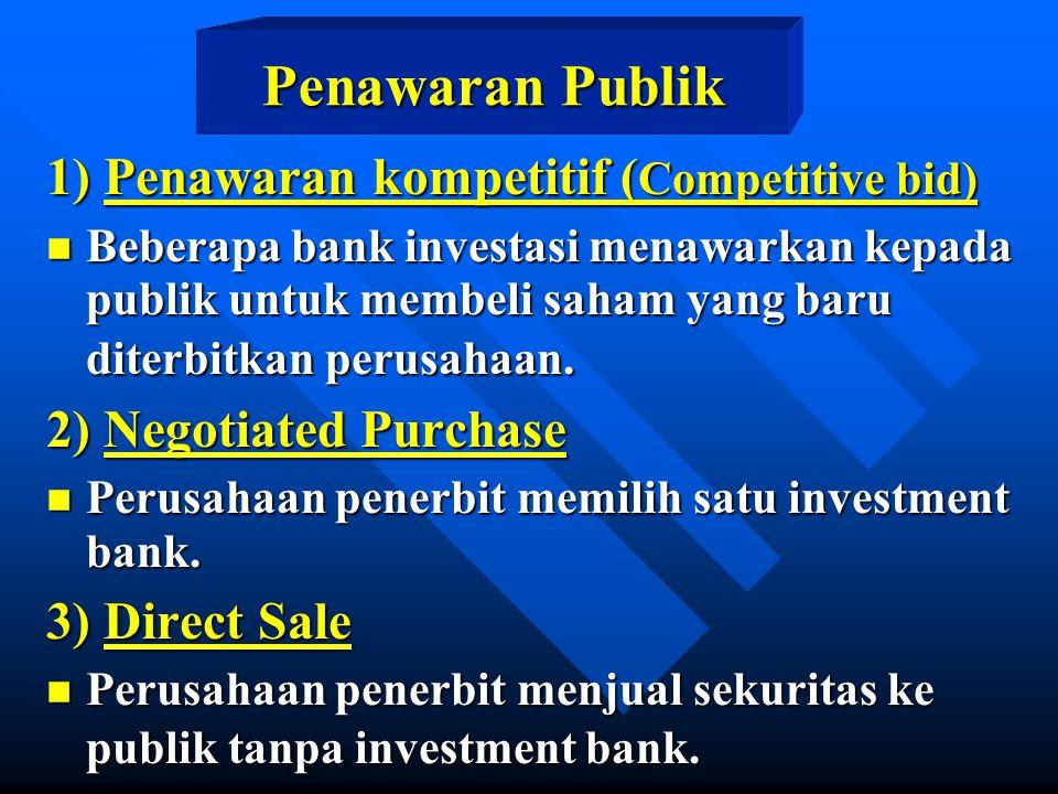 Penawaran Publik 1) Penawaran kompetitif (Competitive bid)
