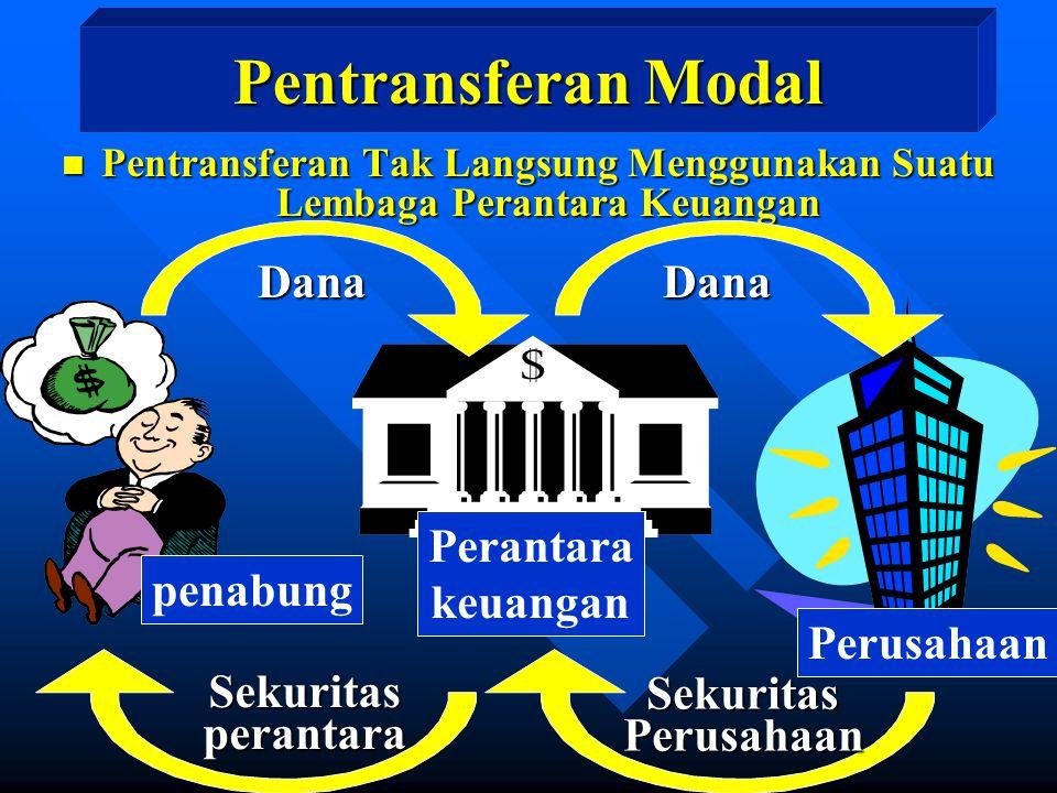 Pentransferan Modal Dana Dana Perantara keuangan penabung Perusahaan