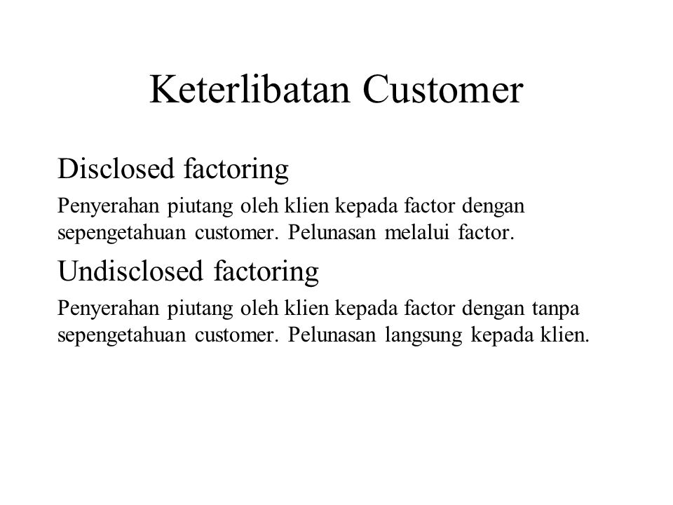 Keterlibatan Customer
