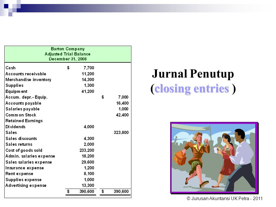 Jurnal Penutup (closing entries )