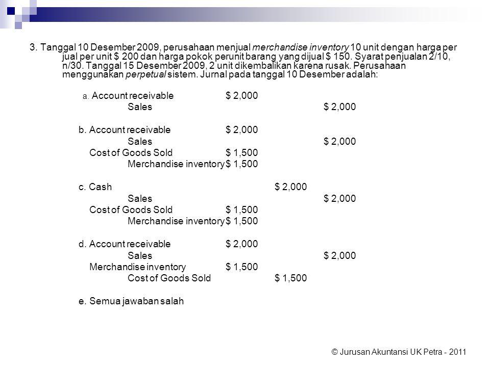 Merchandise inventory $ 1,500 c. Cash $ 2,000
