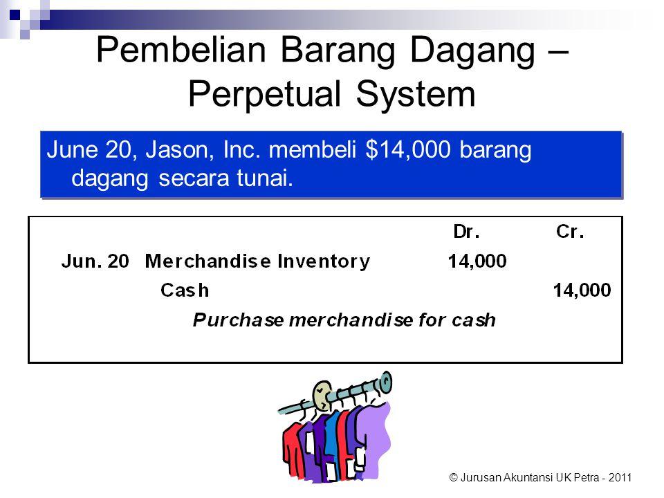 Pembelian Barang Dagang – Perpetual System