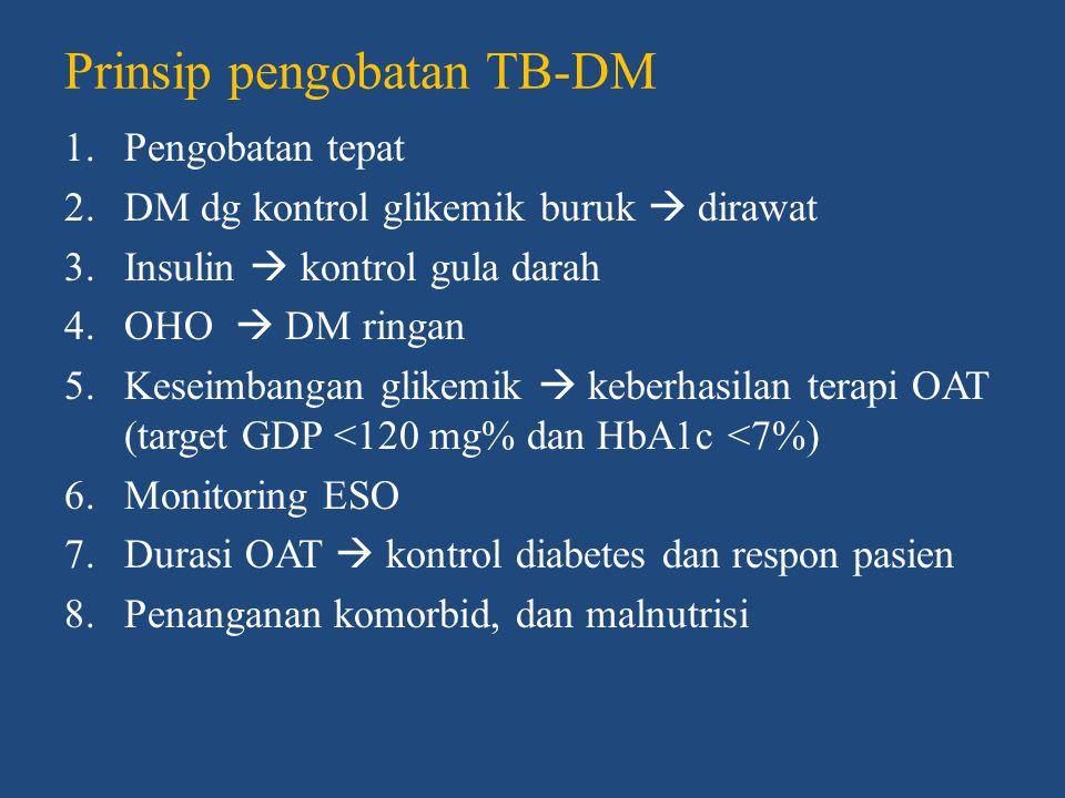Prinsip pengobatan TB-DM