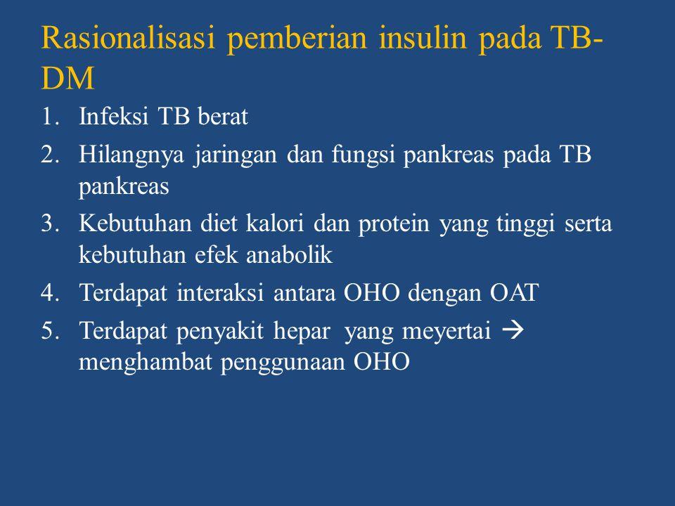 Rasionalisasi pemberian insulin pada TB-DM