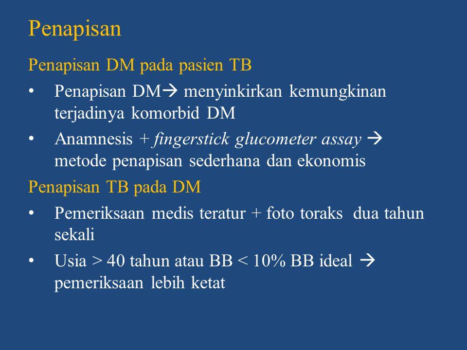 Penapisan Penapisan DM pada pasien TB