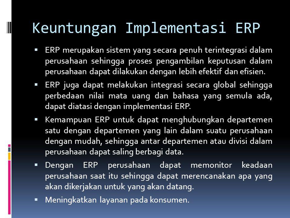 Keuntungan Implementasi ERP