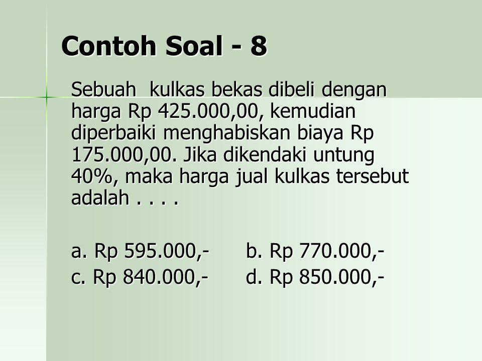 Contoh Soal - 8