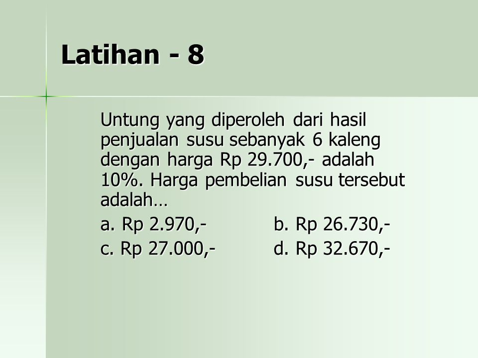 Latihan - 8