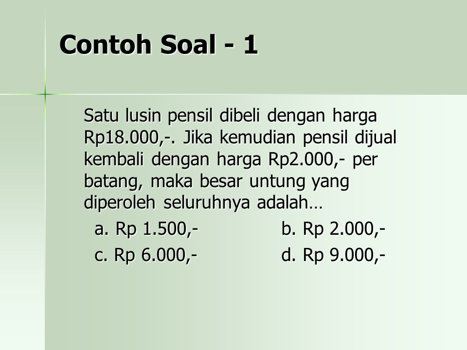Contoh Soal - 1
