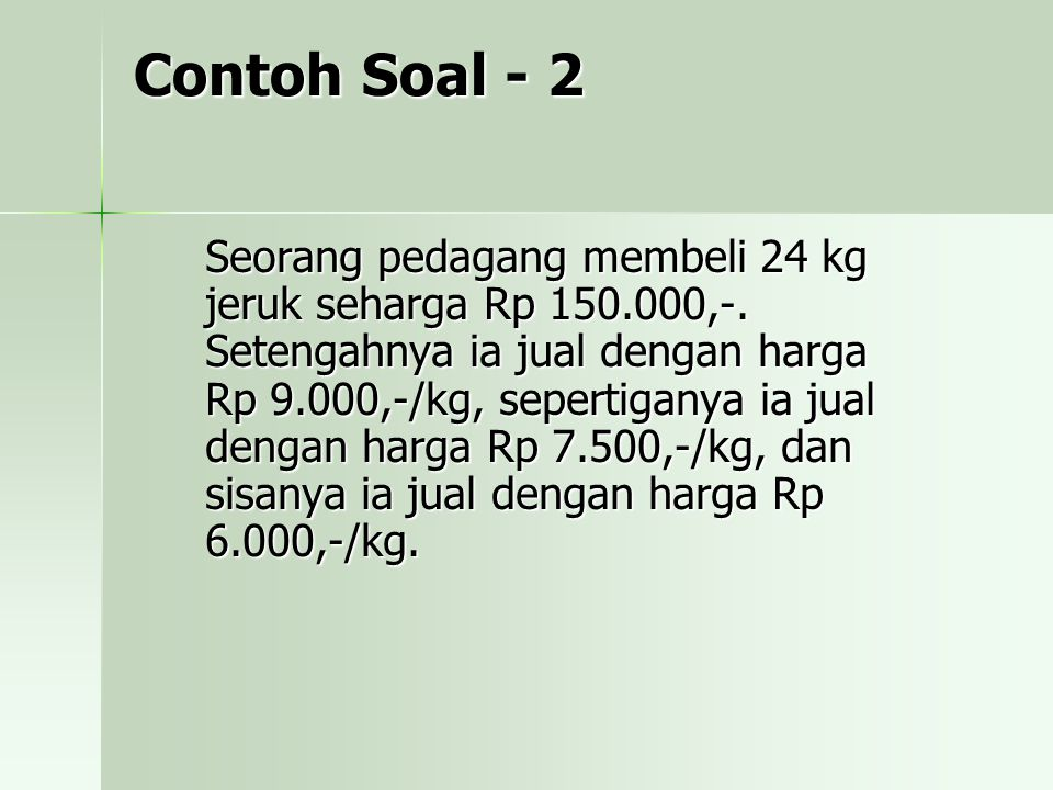 Contoh Soal - 2