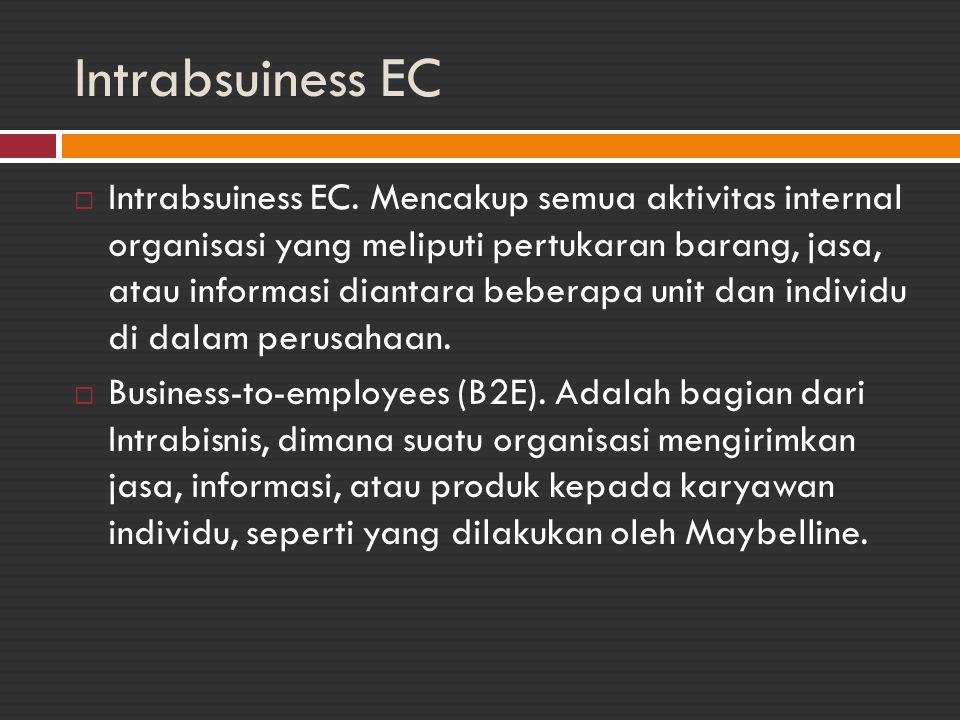 Intrabsuiness EC
