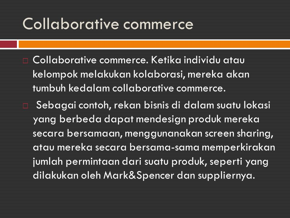 Collaborative commerce