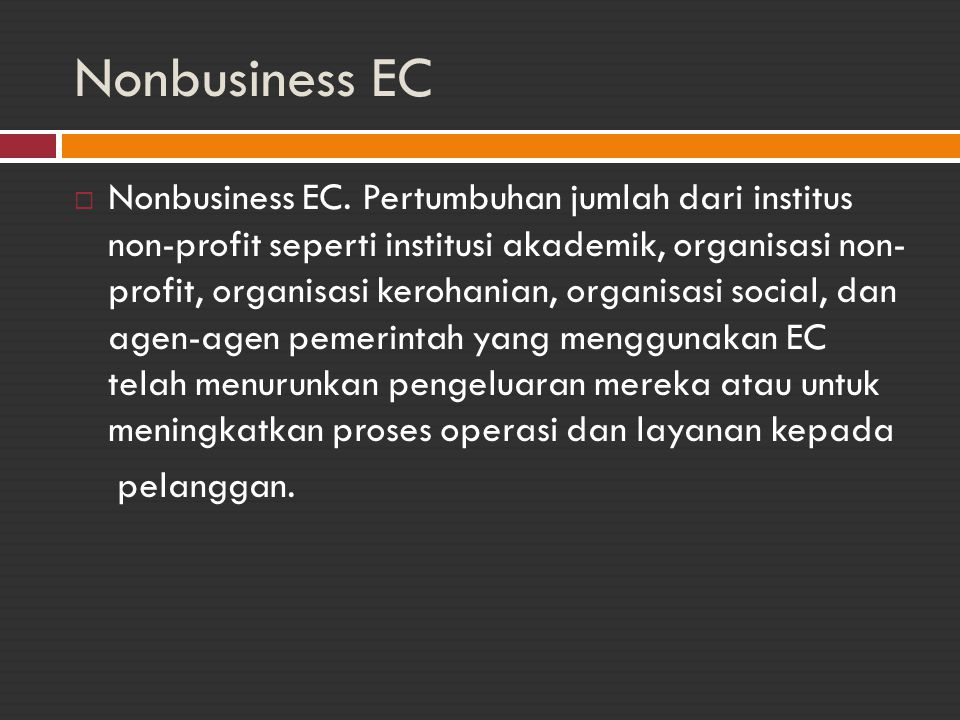 Nonbusiness EC