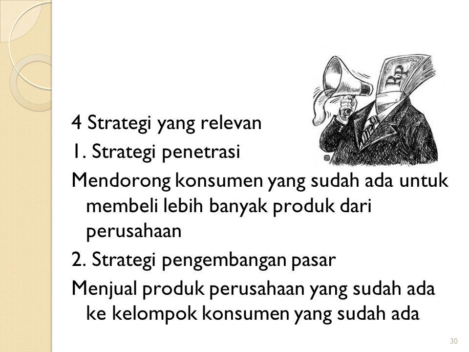 2. Strategi pengembangan pasar