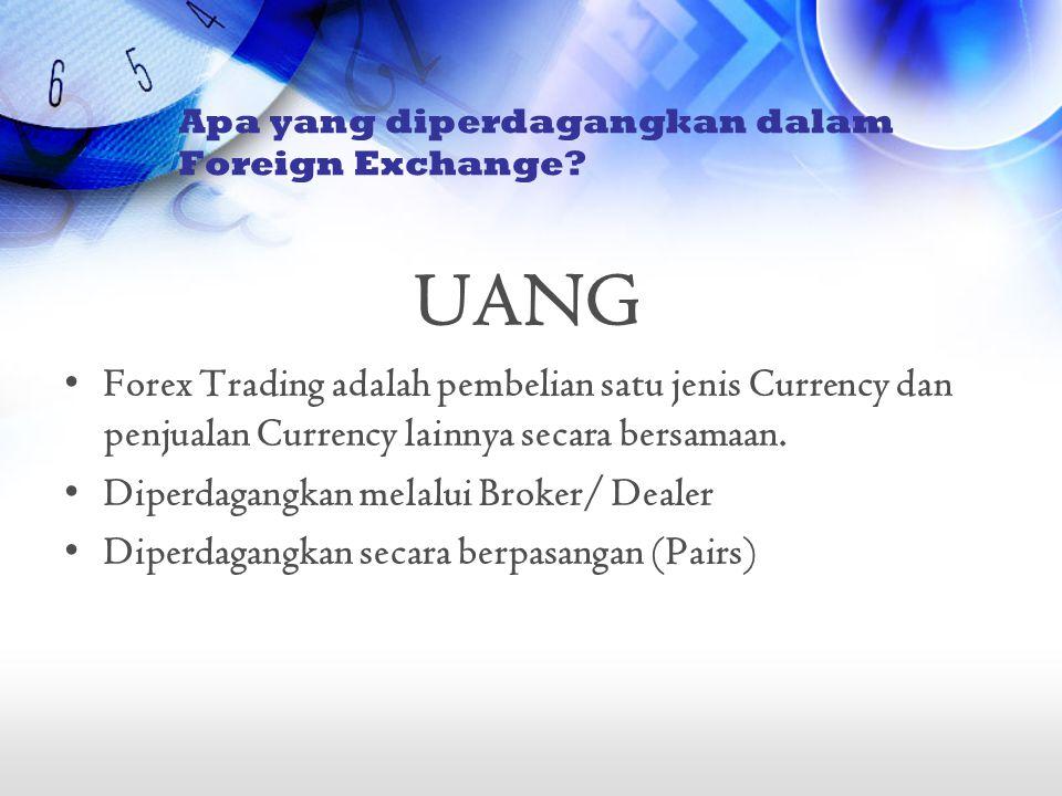 Apa yang diperdagangkan dalam Foreign Exchange