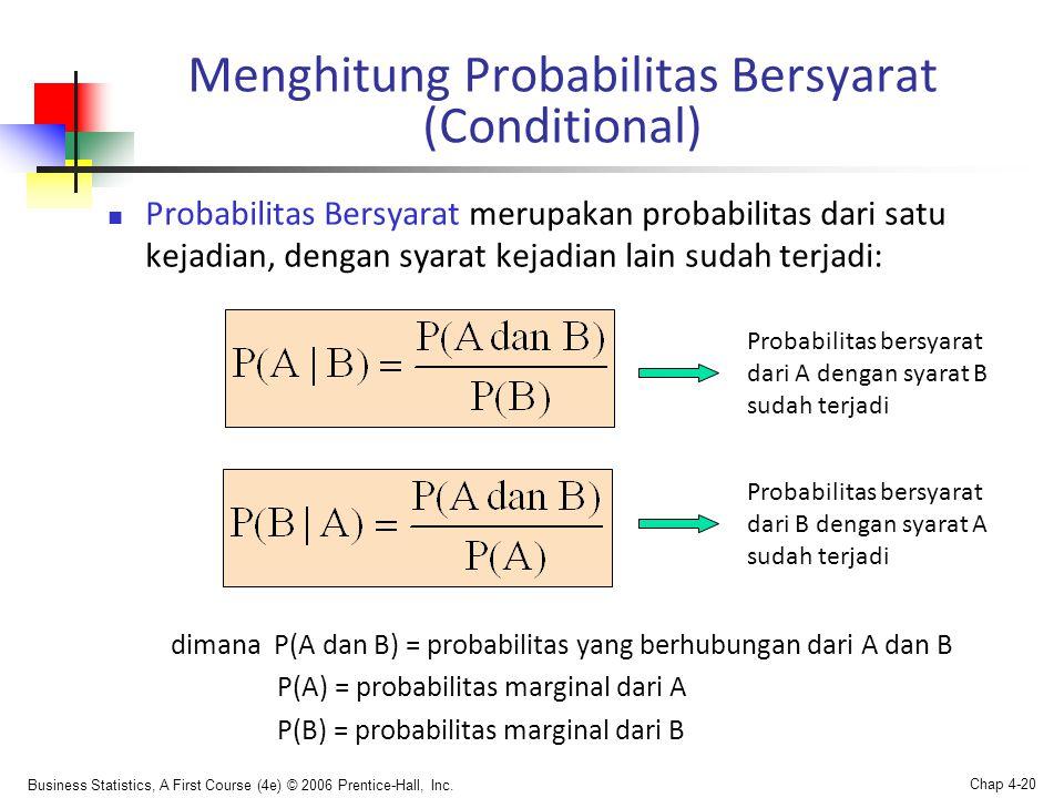 Menghitung Probabilitas Bersyarat (Conditional)