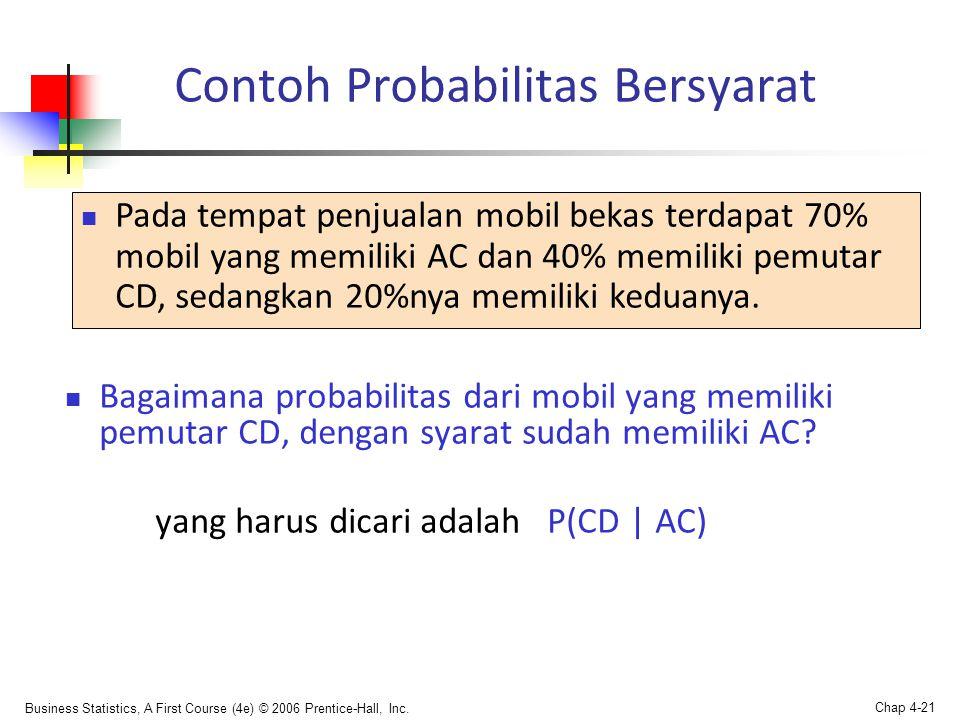 Contoh Probabilitas Bersyarat