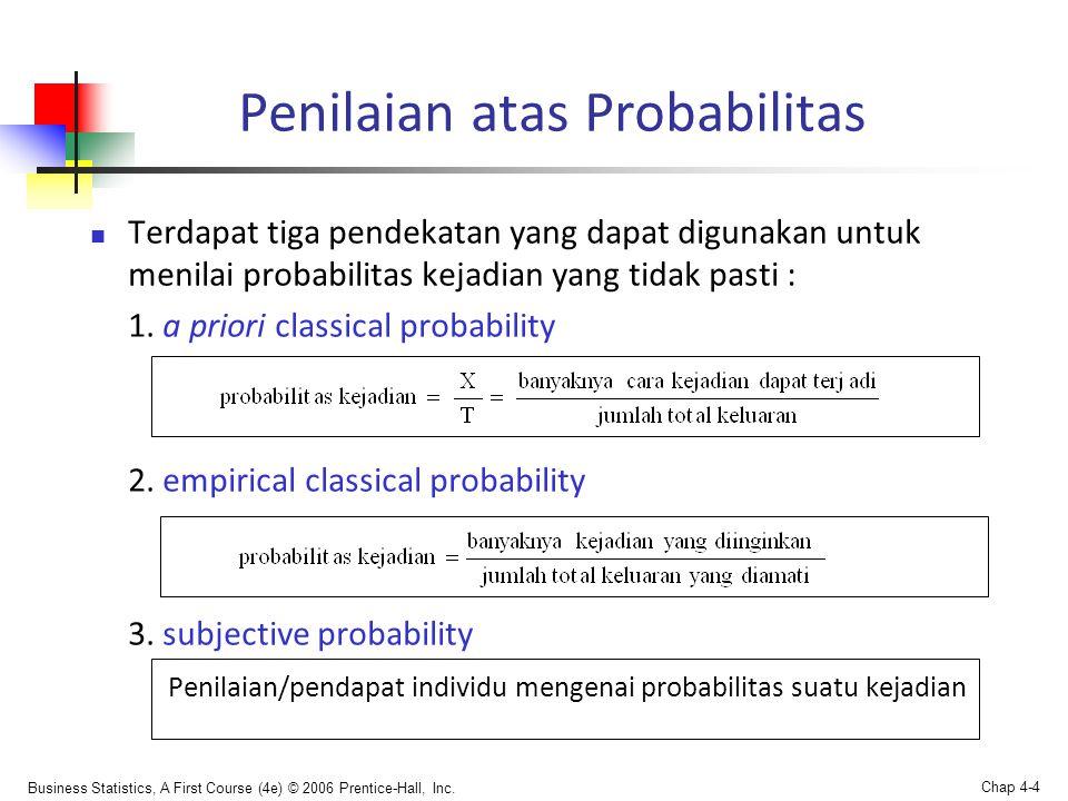 Penilaian atas Probabilitas