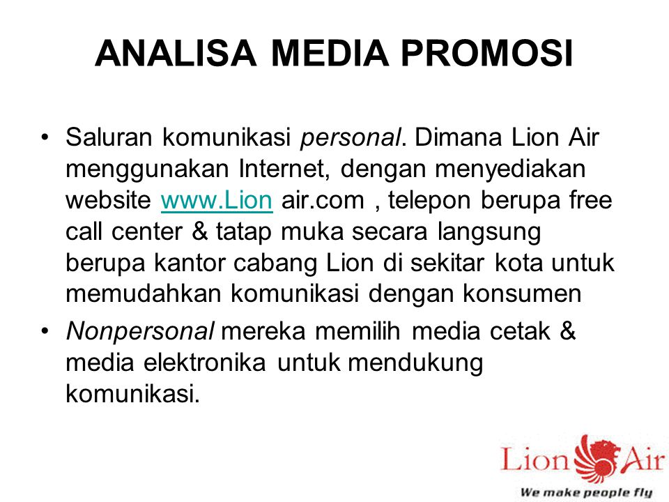 ANALISA MEDIA PROMOSI