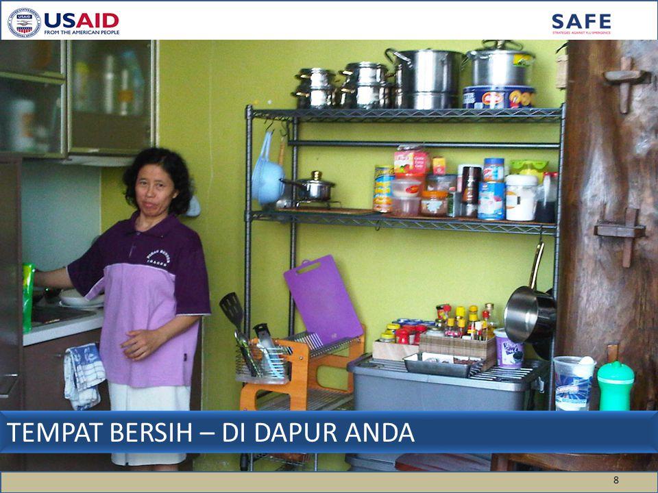 TEMPAT BERSIH – DI DAPUR ANDA