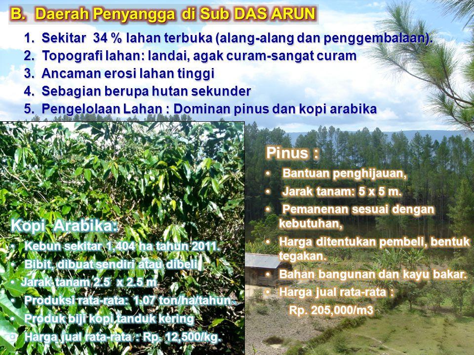 B. Daerah Penyangga di Sub DAS ARUN