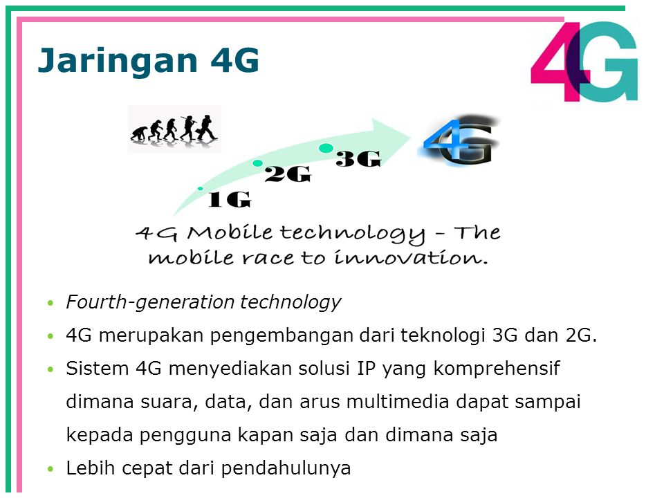 Jaringan 4G Fourth-generation technology