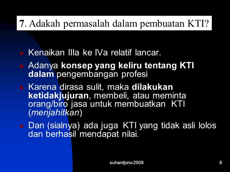7. Adakah permasalah dalam pembuatan KTI