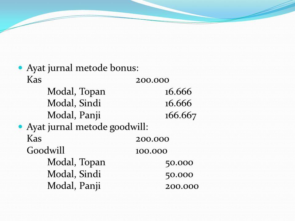 Ayat jurnal metode bonus: