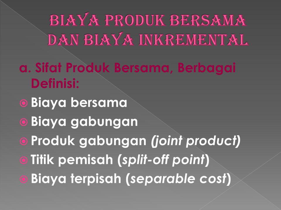 Biaya produk bersama dan biaya inkremental