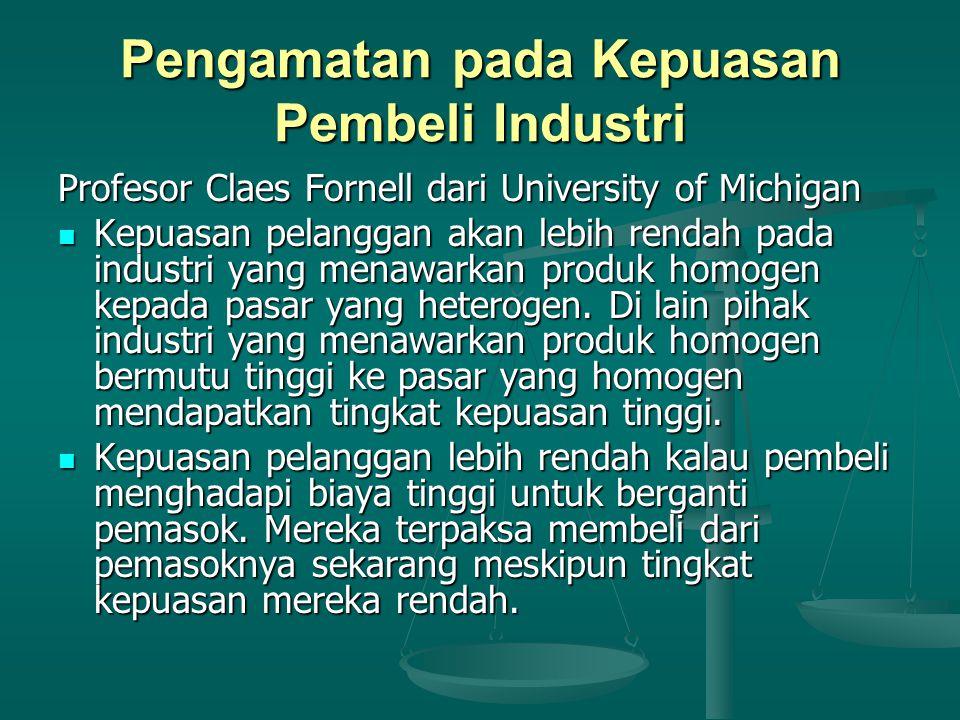 Pengamatan pada Kepuasan Pembeli Industri