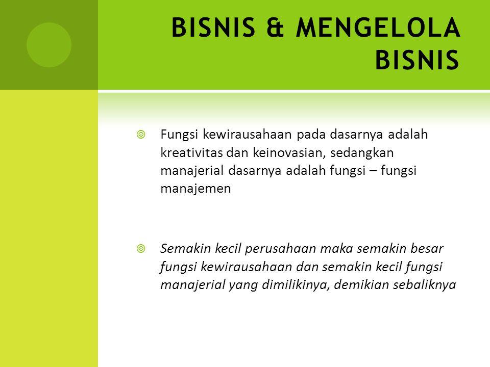BISNIS & MENGELOLA BISNIS