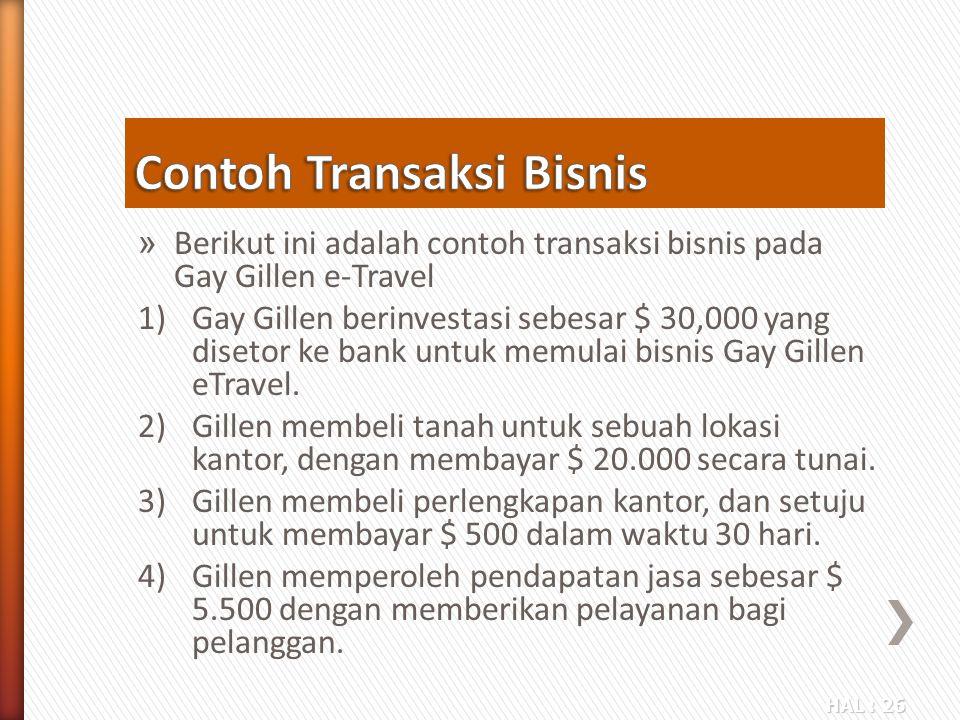 Contoh Transaksi Bisnis