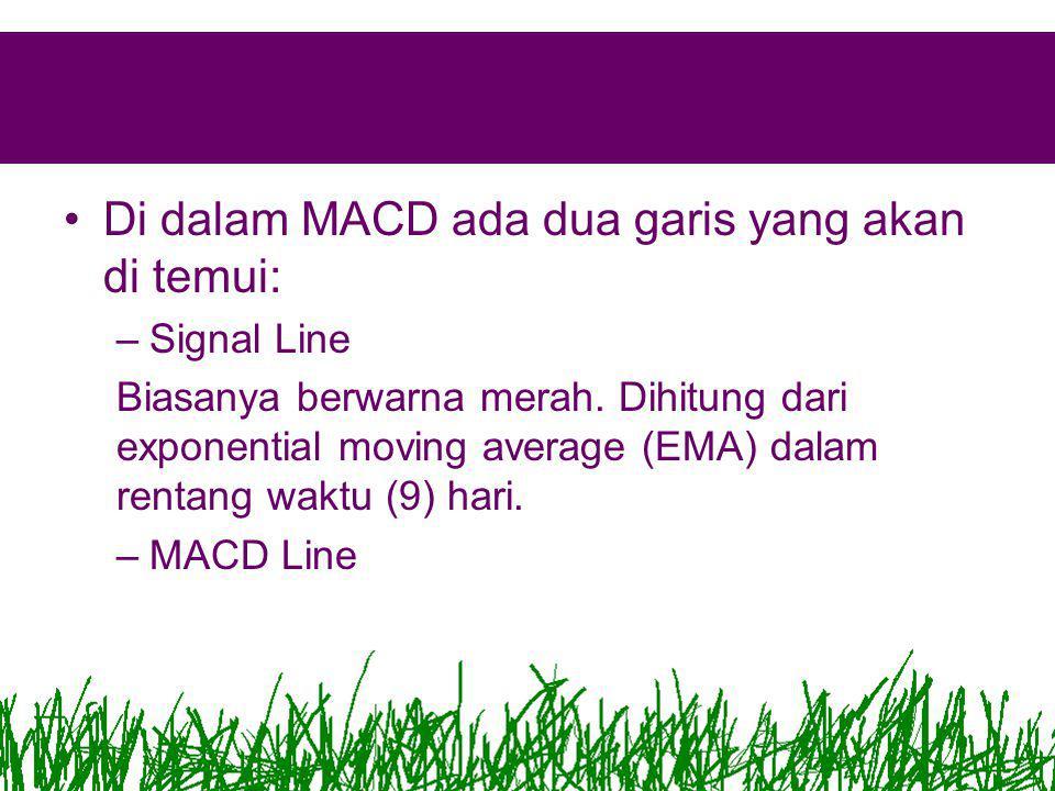 Di dalam MACD ada dua garis yang akan di temui:
