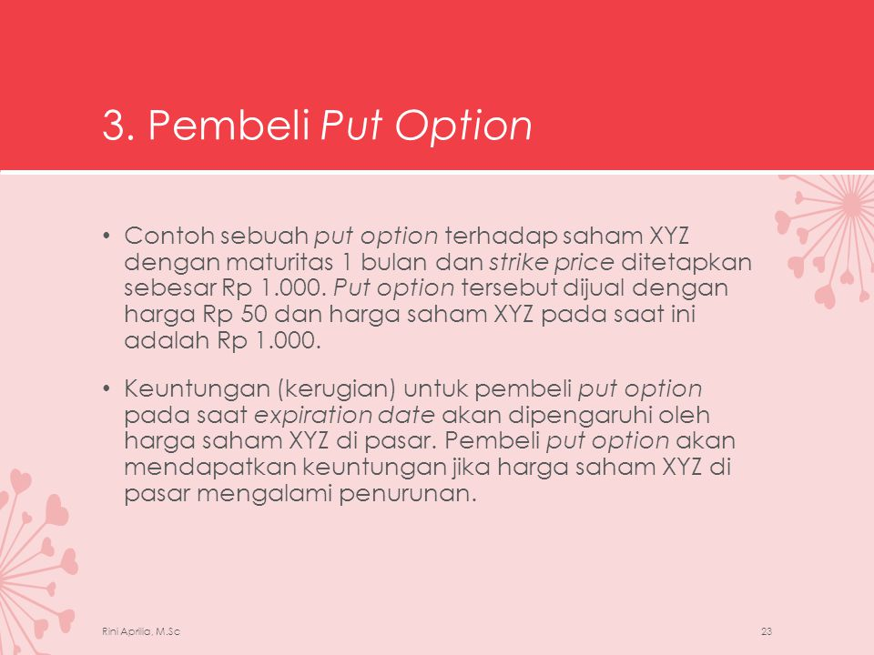 3. Pembeli Put Option